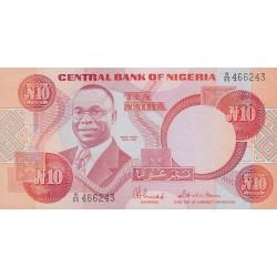 2009 - Nigeria PIC 25c       10 Nairas banknote