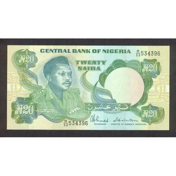 2001 - Nigeria PIC 26c       20 Nairas banknote