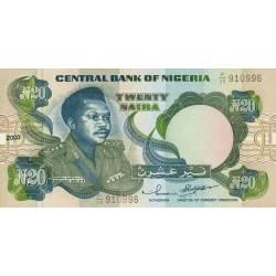2001 - Nigeria PIC 26d 20 Nairas banknote