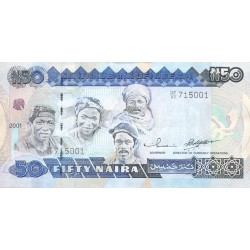 1991 - Nigeria PIC 27a   50 Nairas banknote
