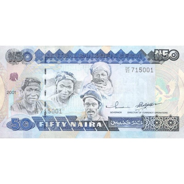 1991 - Nigeria pic 27a billete de 50 Nairas