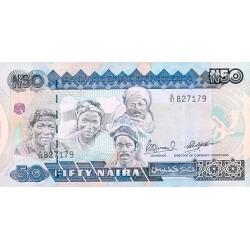 1991 - Nigeria PIC 27c   50 Nairas banknote