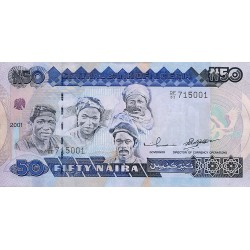 2001 - Nigeria PIC 27d   50 Nairas banknote