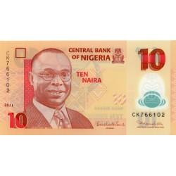 2011 - Nigeria PIC 39c       10 Nairas banknote
