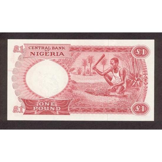 1967 - Nigeria PIC 8        1 Pound banknote