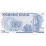 1984 -  Norway   Pic 36c            10 kroner banknote