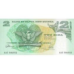 1981 - Papua P5 2 Kina banknote