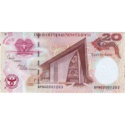 2008 - Papua P36 20 Kina banknote