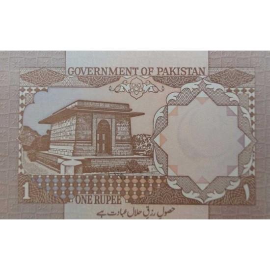 1983 - Pakistan PIC 27g   1 Rupee  banknote