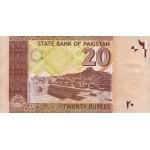 2005 - Paquistan pic 46a  billete de 20 Rupias