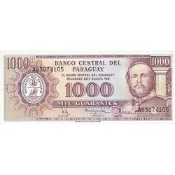 1982 - Paraguay PIC 207    1.000 Guaranies banknote