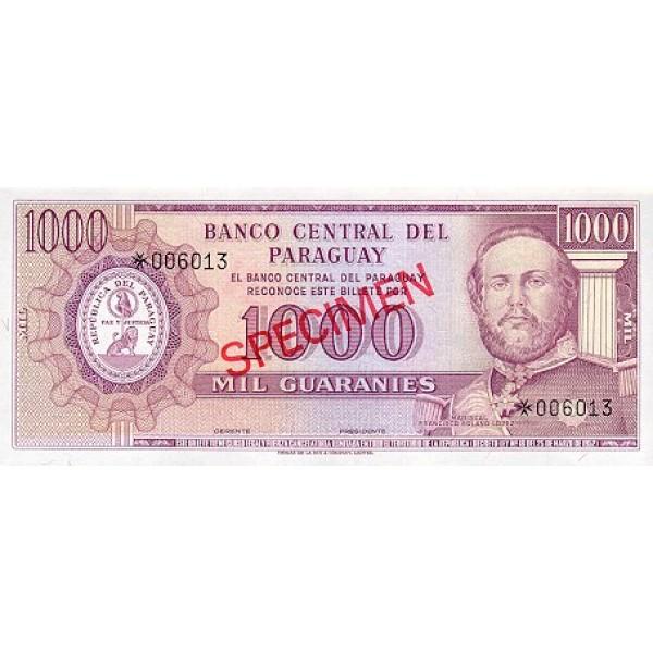 1979 - Paraguay PIC CS1 202b    5.000 Guaranies banknote