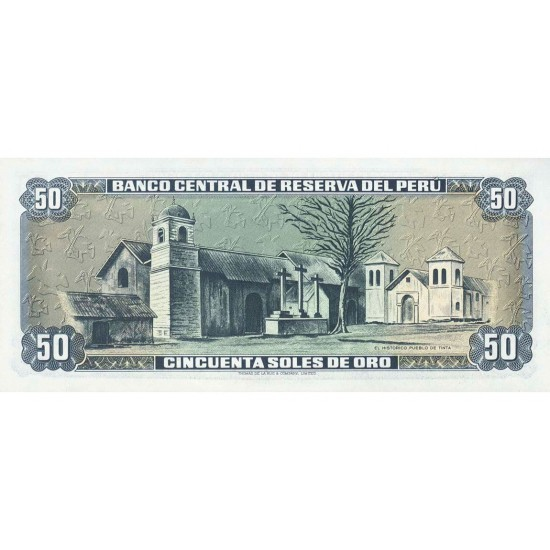 1977 - Peru P113 50 Soles Oro banknote