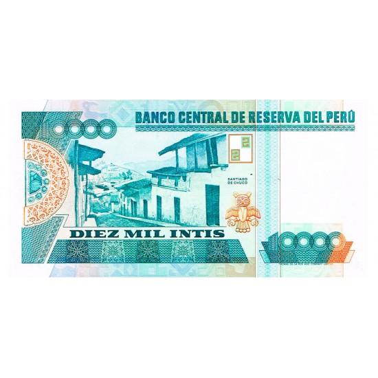 1988 - Peru P140 10,000 Intis  banknote