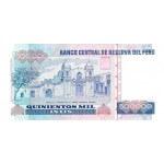 1989 - Perú P147 billete de 500.000 Intis