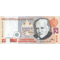 2004 - Peru P176b 20 Nuevos Soles  banknote