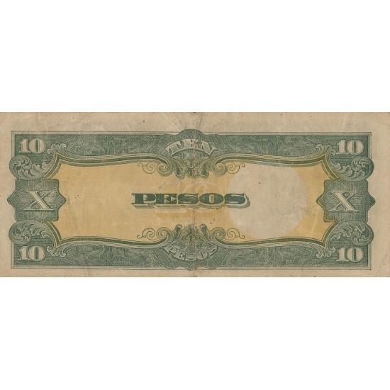 1943 - Philippines P111    10 Pesos  banknote