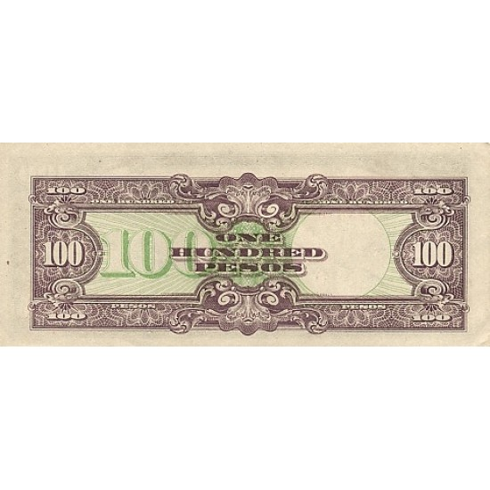1944 - Philippines P112a 100 Pesos banknote. Used VF
