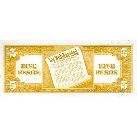 1949 - Philippines P135e 5 Pesos  banknote