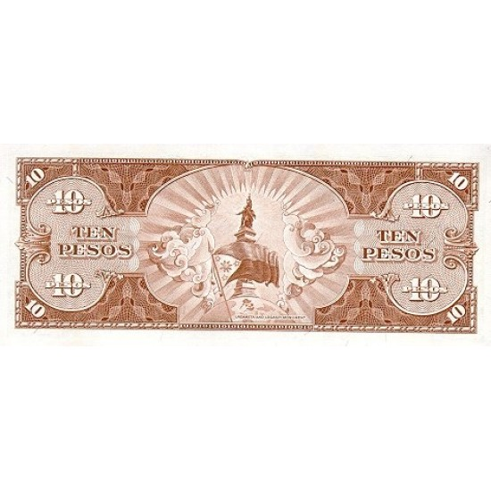 1949 - Philippines P136e 10 Pesos  banknote