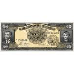 1949 - Filipinas P137e billete de 20 Pesos