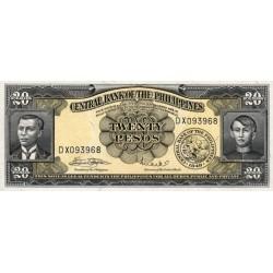 1949 - Philippines P137e  20 Pesos  banknote