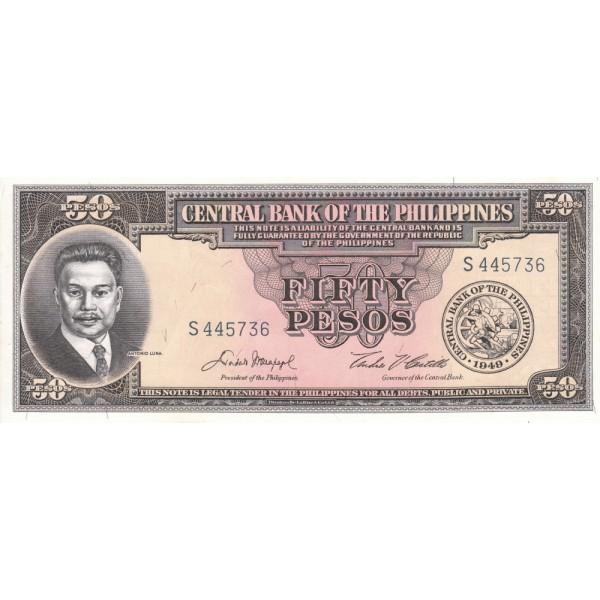 1949 - Filipinas P138d billete de 50 Pesos