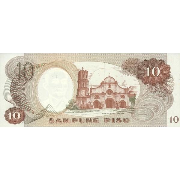 1969 - Philippines P144b  10 Piso banknote