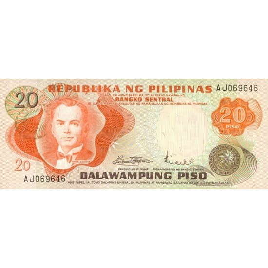 1970 - Philippines P150   20 Piso banknote