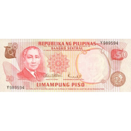 1970 - Philippines P151   50 Piso banknote