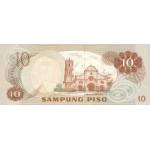 1970 - Filipinas P154 billete de 10 Piso