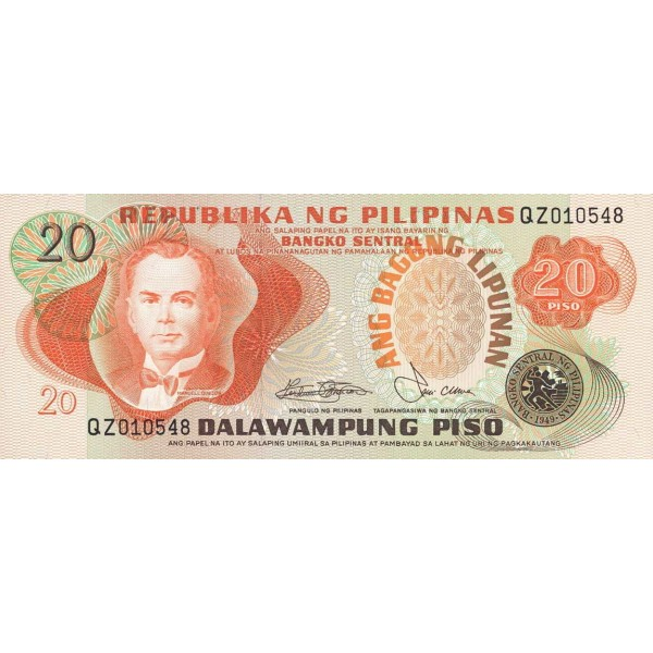 1978 - Philippines P162c   20 Piso banknote