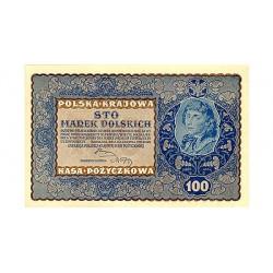 1919 - Poland PIC 27     100 Marek banknote