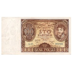 1934 - Poland PIC 75           100 Zlotych  banknote