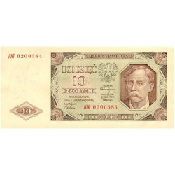 1948 - Poland PIC 136      10 Zlotych banknote