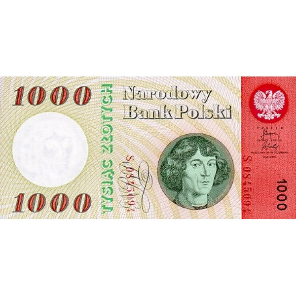 1965 - Poland PIC 141a           1.000 Zlotych  banknote