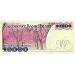 1988 - Poland PIC 151b      10.000 Zlotych banknote