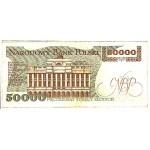1989 - Poland PIC 153      50.000    VF Zlotych banknote