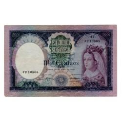 1961 - Portugal  Pic 166           1.000 Escudos VF  banknote