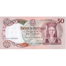1964 - Portugal  Pic 168           50 Escudos   banknote