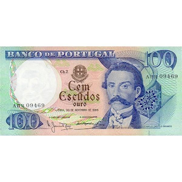 1965 - Portugal  Pic 169a           100 Escudos   banknote