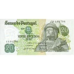 1971 - Portugal  Pic 173           20 Escudos   banknote