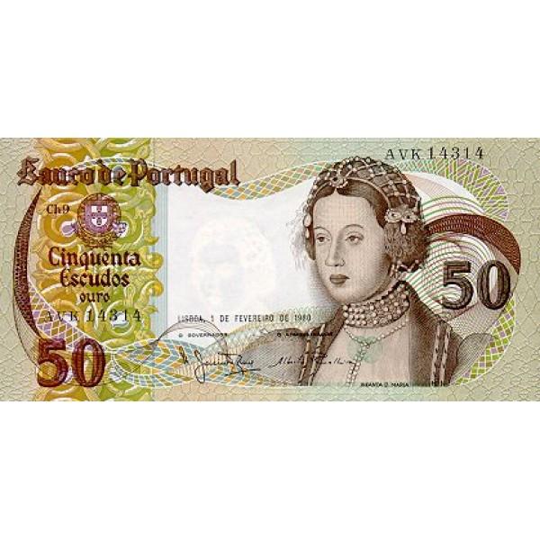 1980 - Portugal  Pic 174b           50 Escudos   banknote