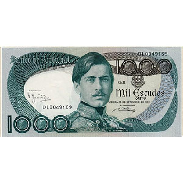1980 - Portugal  Pic 175b           1.000 Escudos U-  banknote