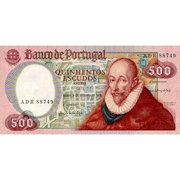 1979 - Portugal  Pic 177           500 Escudos   banknote
