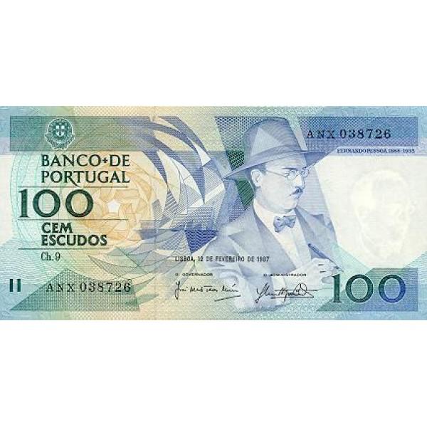 1988 - Portugal  Pic 179f          100 Escudos   banknote