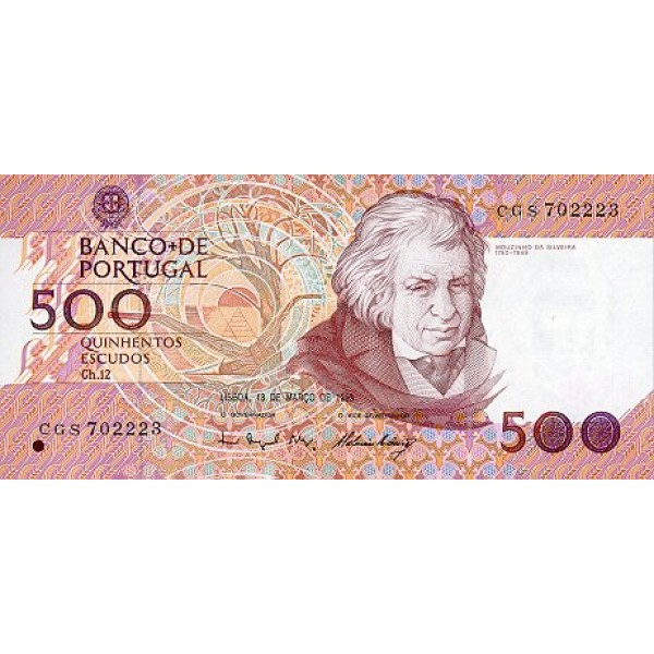 1992 - Portugal  Pic 180d         500 Escudos   banknote