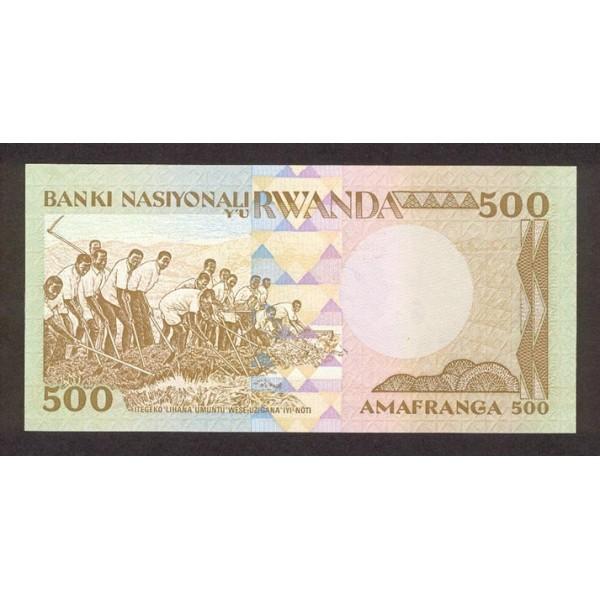 1981 - Ruanda pic 16 billete de 500 Francos