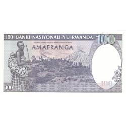 1982 - Rwanda PIC 18   100 Francs banknote