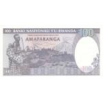 1989 - Ruanda pic 19 billete de 100 Francos